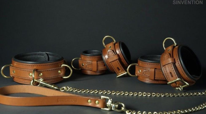 Check out these leather restraints that lock