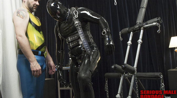 Video: Rubber Gimp Doll Stand