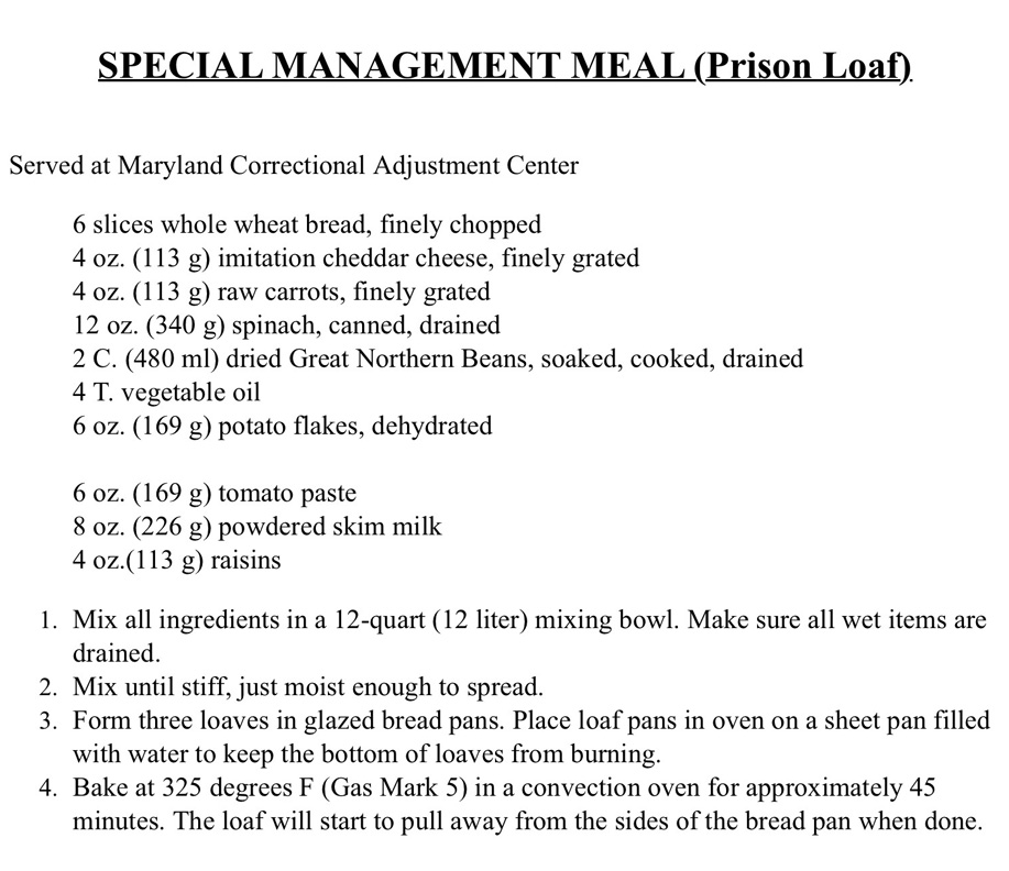 Metalbond bakes prison loaf