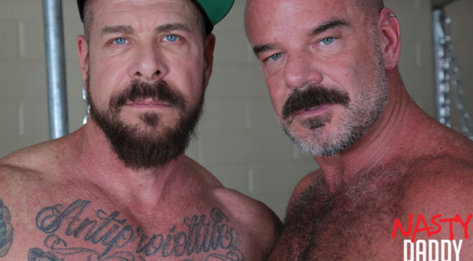 Sling sex with gay daddies Rocco Steele and Jack Dyer