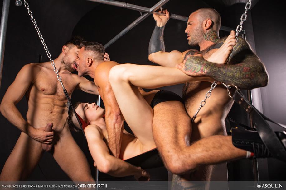 gay porn with Drew Dixon, Jake Nobello, Manuel Skye and Markus Kage