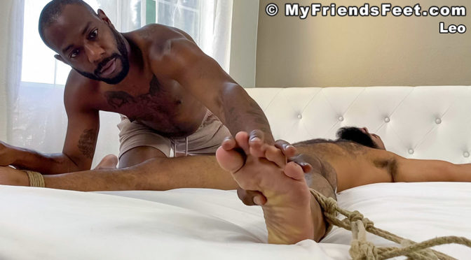 More bondage and tickle torture with August Andrews and Leo Forte