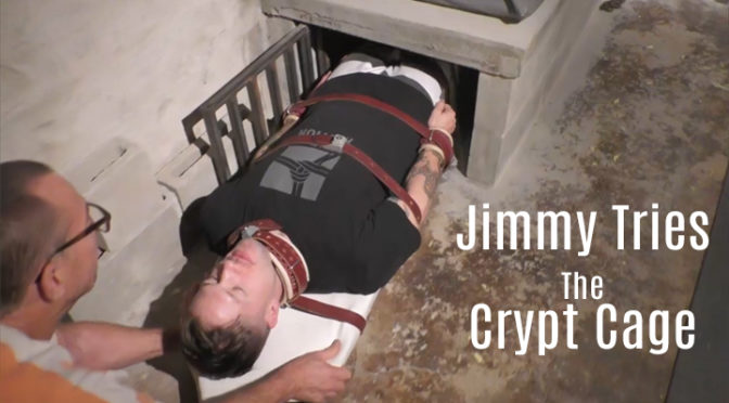Jimmy tries the crypt cage