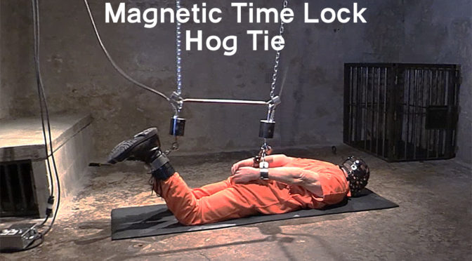 Magnetic time lock hog tie