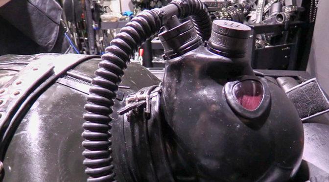 Heavy rubber bondage encasement