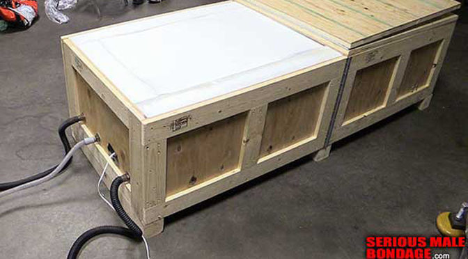 Locked in a box with high-density foam