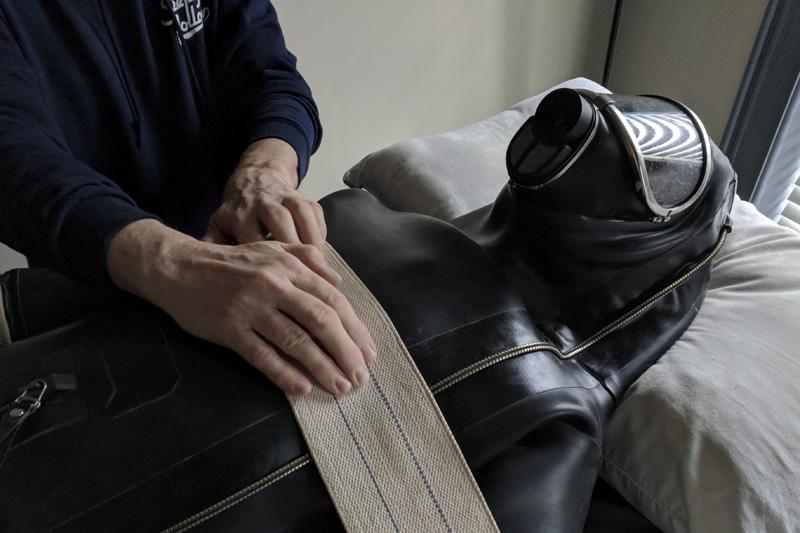male bondage in full rubber