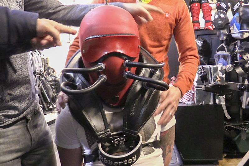 male rubber bondage