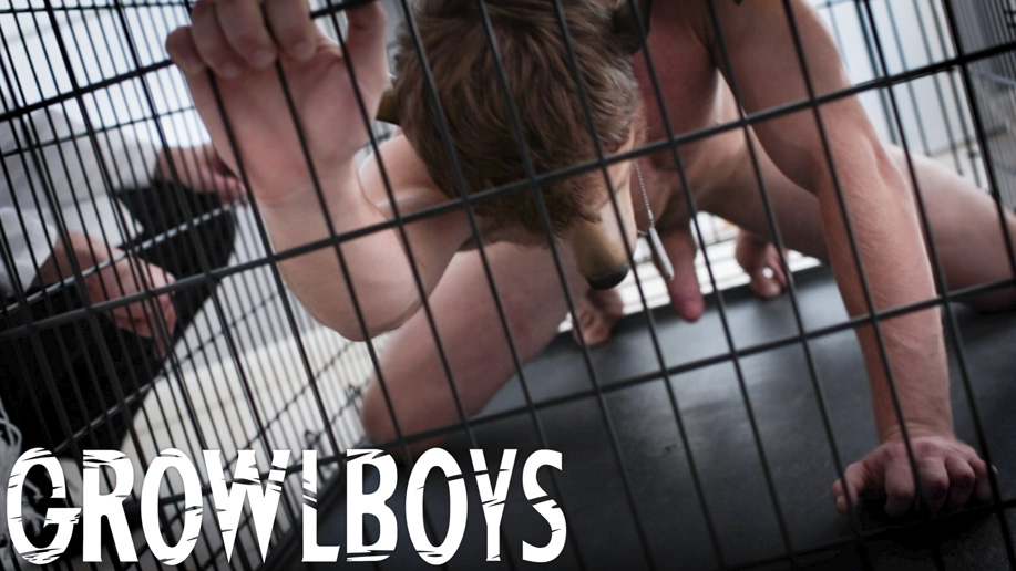 Stripped of clothes and bound in a cage
