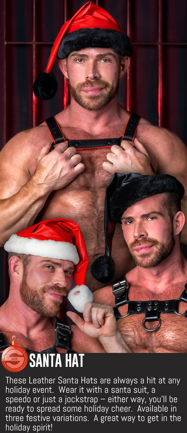 leather santa hats kinky