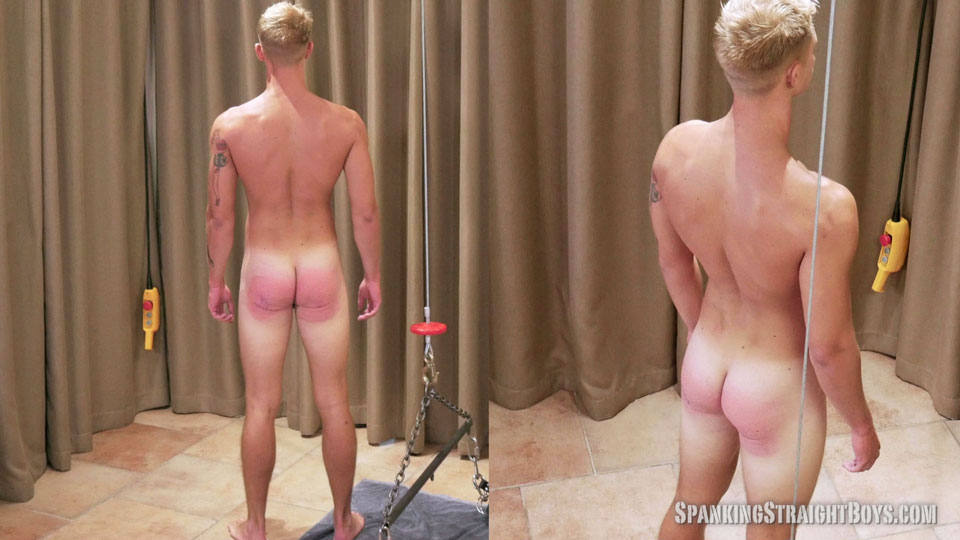 spank his bare ass