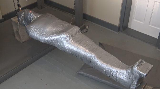 Severe duct tape mummification