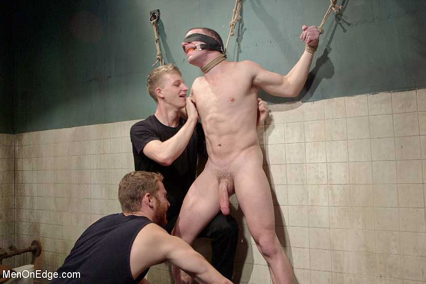 gay bondage Sebastian Keys and Branden Forrest tie up Doug Acre