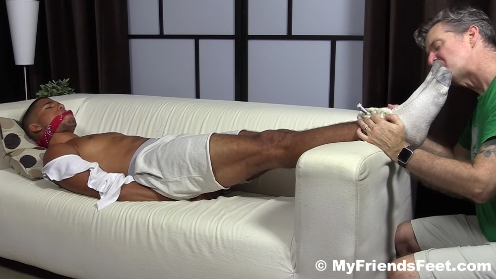 personal trainer gets tied up