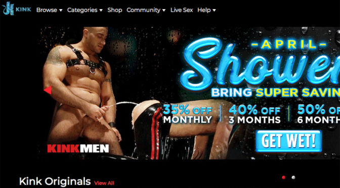 KinkMen sprays 'SHOWERS' all over the place with a special membership deal