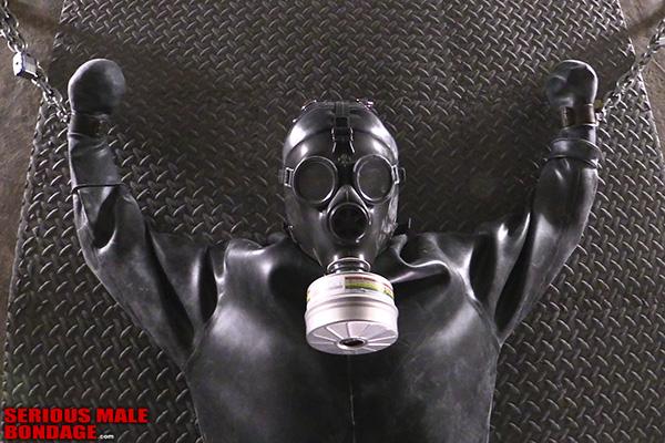male bondage with gas mask