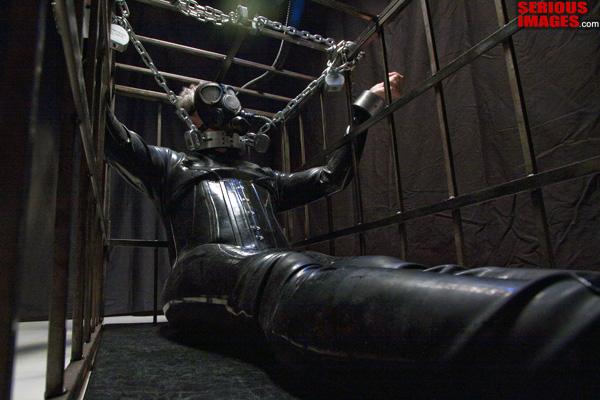 male bdsm Severe cage confinement