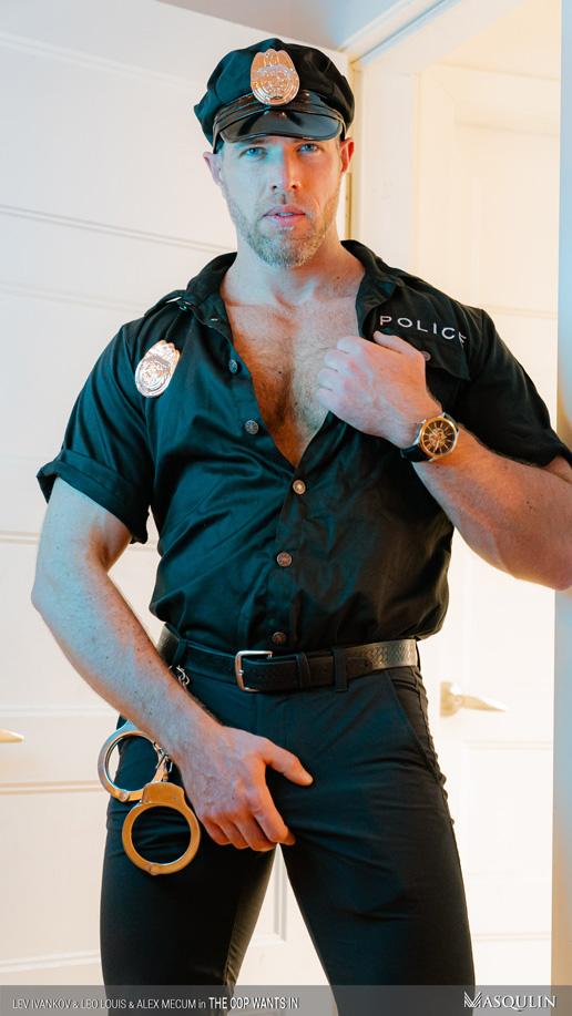 Alex Mecum cop uniform
