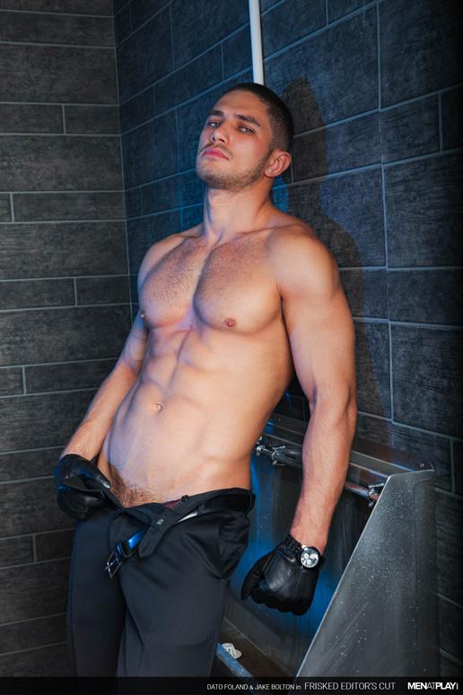 stud in black leather gloves