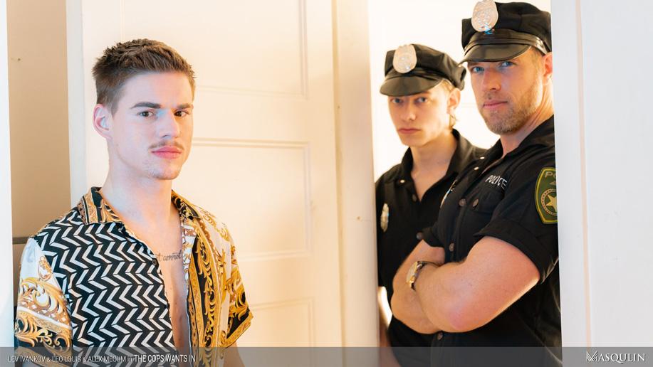 gay porn cops handcuffs