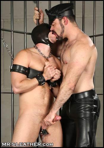 gay leather bondage