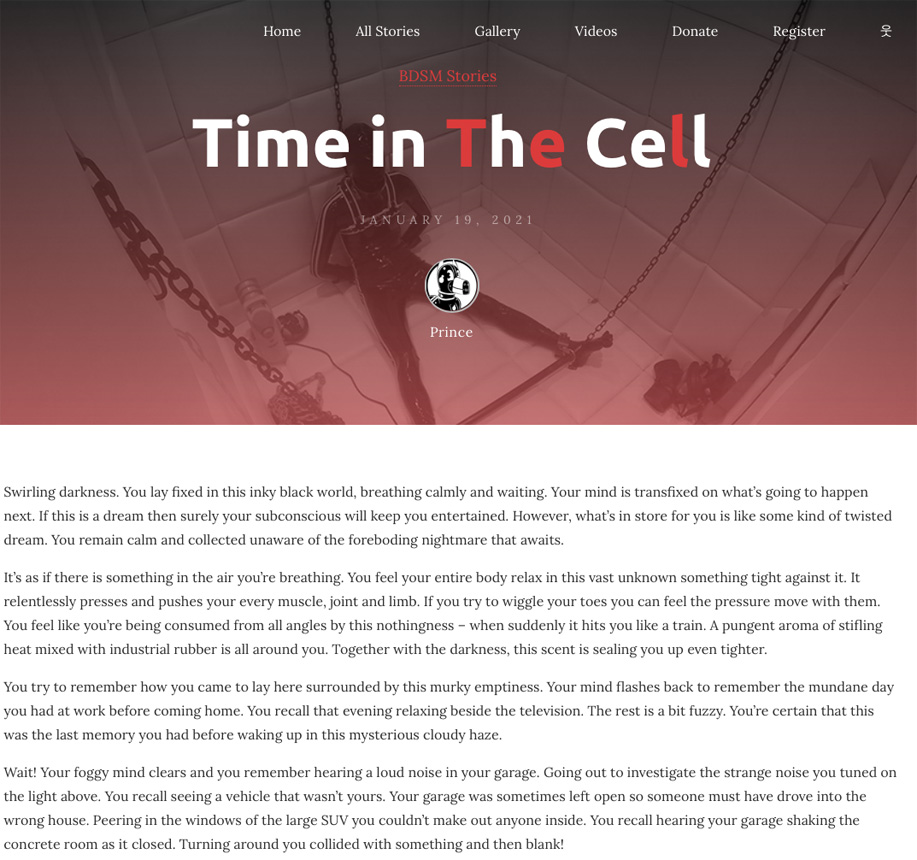 Time in the Cell bondage story