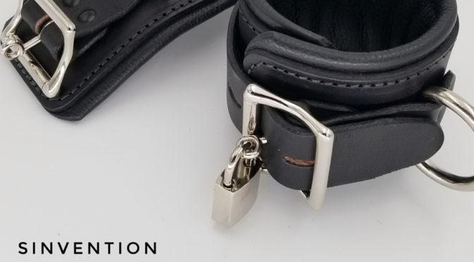 Locking leather wrist restraints