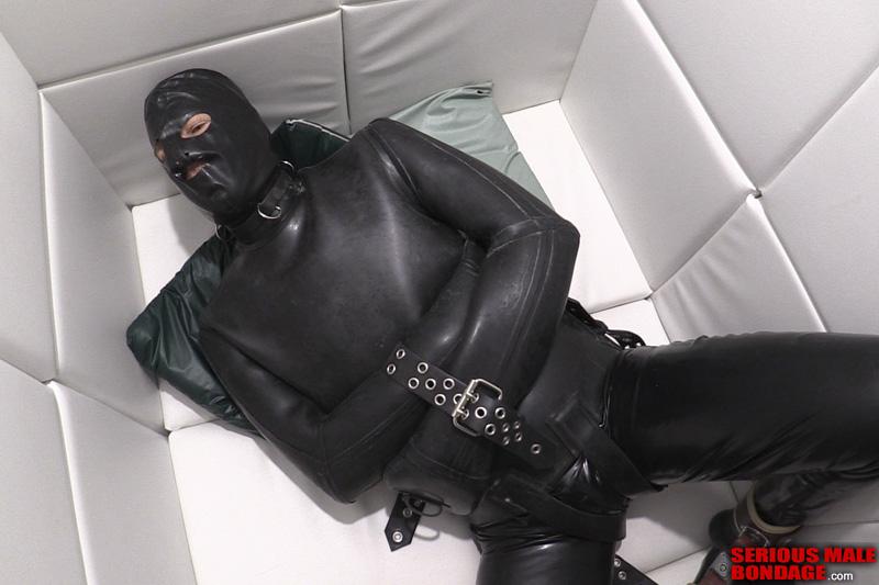 black rubber white padded cell