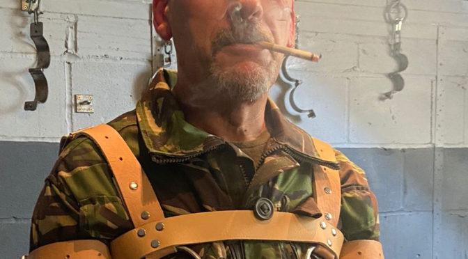One last smoke before he hangs