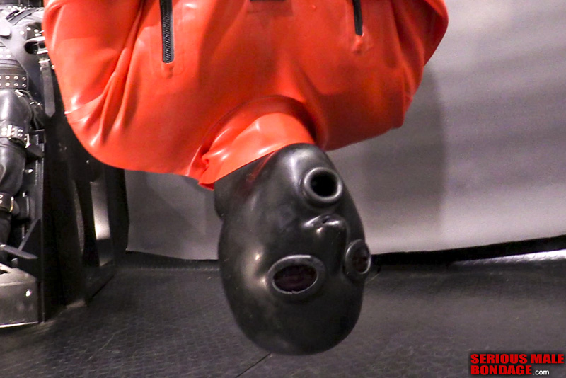 rubber hood and straitjacket