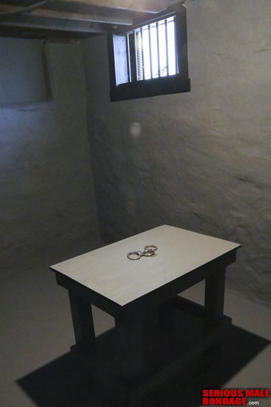 prisoner interrogation in handcuffs