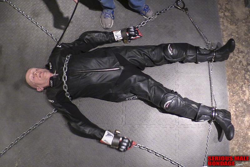 male bdsm bike leathers