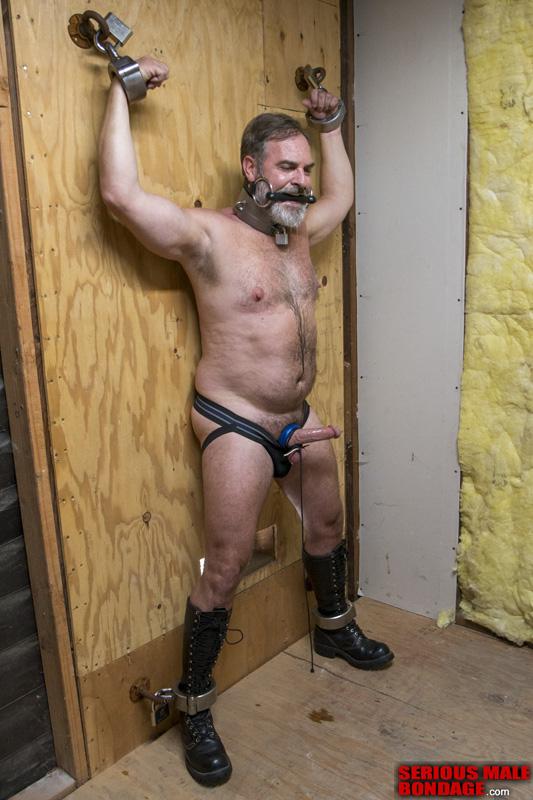 Kristofer Weston hard cock in bondage