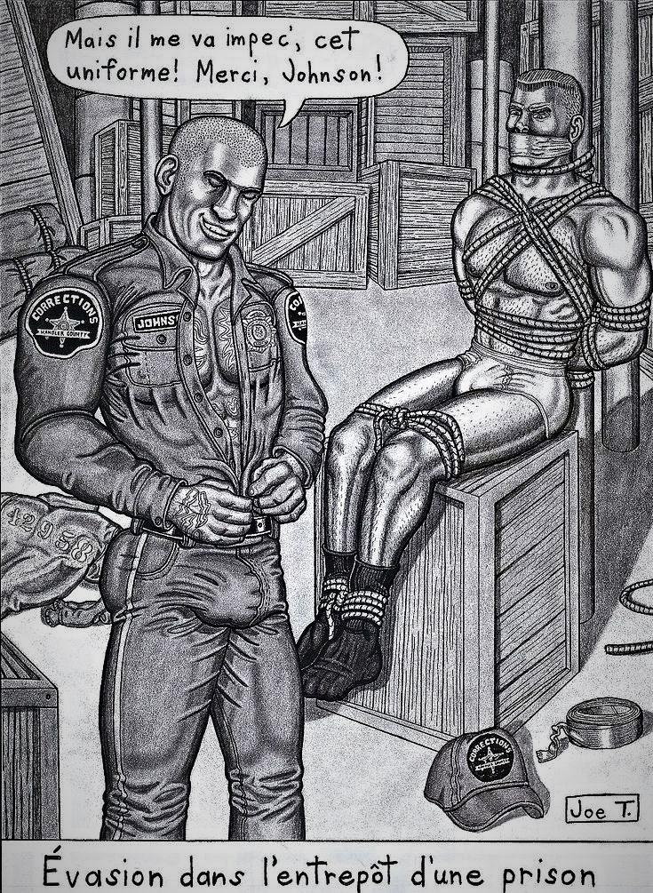 prison guard artwork Joe T